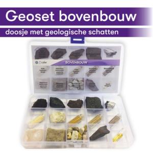Thematisch leren met DaVinci's onderwijsmethode voor basisscholen | een doosje met geologische schatten