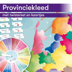 Thematisch leren met DaVinci's onderwijsmethode voor basisscholen | Provinciekleed met twisterset en kaartjes