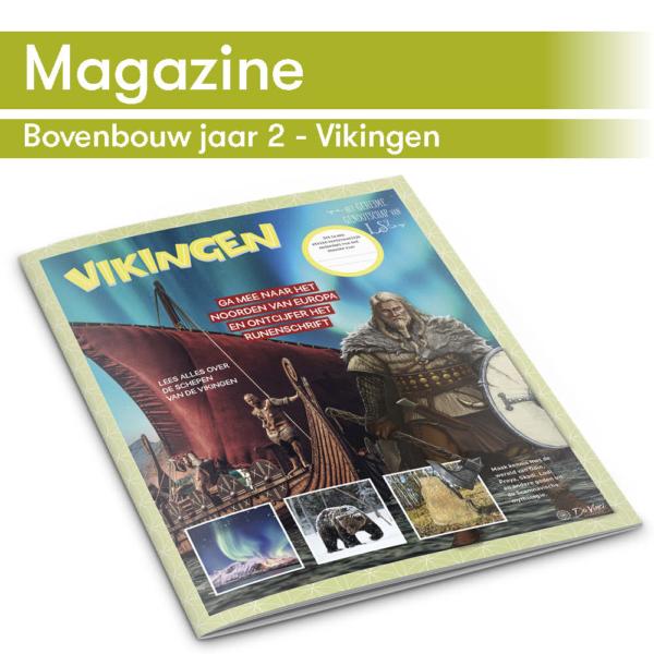 DaVinci's taallijn maakt gebruik van thema-magazines zoals het Vikingen magazine
