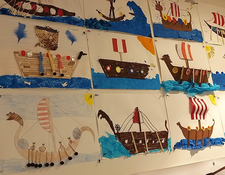 Bovenbouw thema vikingen, vikingschepen